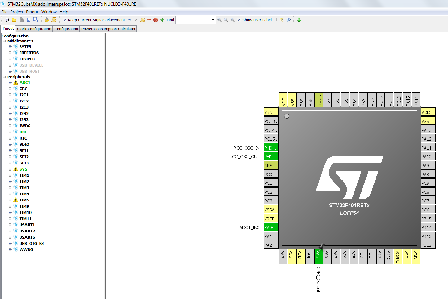 ADC using interrupt in STM32 - CONTROLLERSTECH