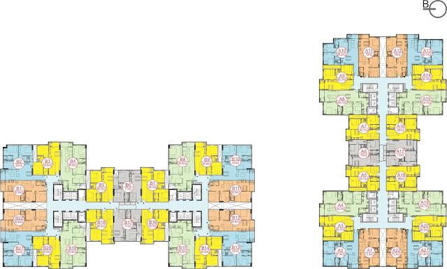 Thiết kế mặt bằng căn hộ dự án chung cư Sky Central