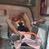 Vítima de colisão entre motos em Serrolândia é socorrido para o Hospital Municipal de Jacobina