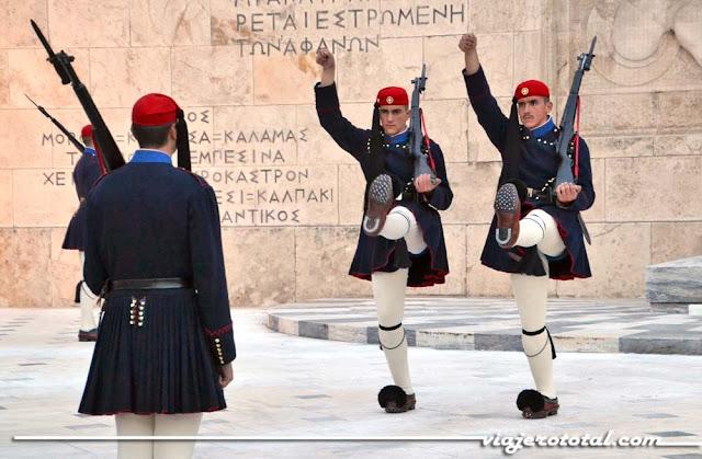 Cambio de guardia en la Plaza Sintagma - Atenas