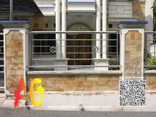 Buat Pagar Stainless Steel Rumah Mewah Murah Minimalis Modern Terbaru di Bengkulu