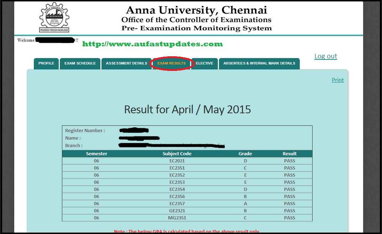 www.coe1.annauniv.edu results