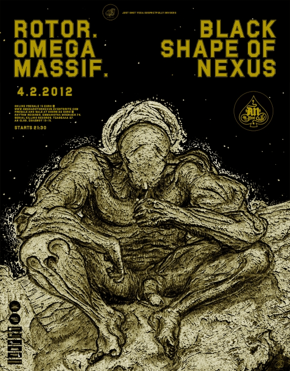 4 February : Rotor, Omega Massif, Black Shape Of Nexus Live In Athens
