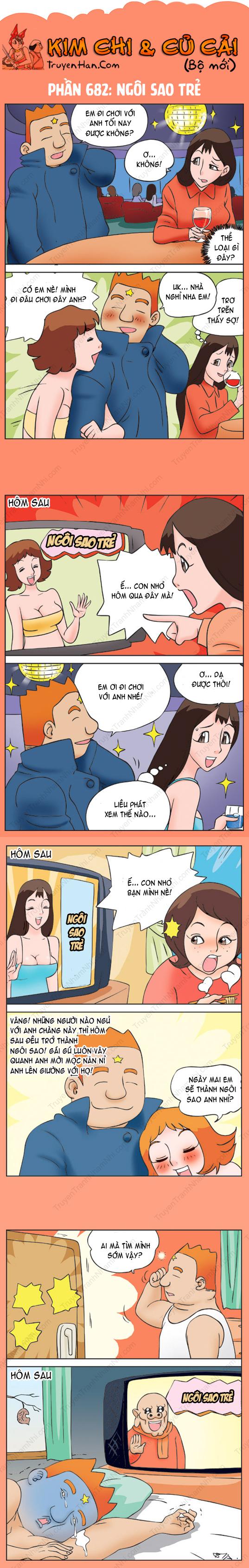 Kim Chi Và Củ Cải Phần 682: Ngôi sao trẻ