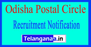 Odisha Postal Circle Recruitment Notification 2017