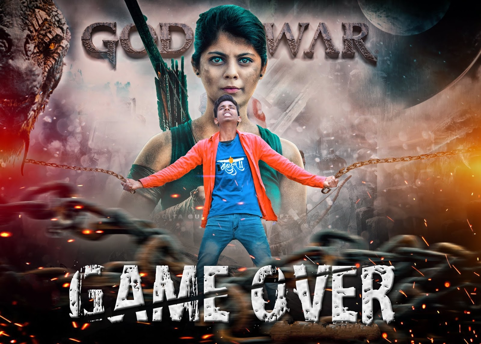 Game Over Poster Editing Background Png Download for Picsart