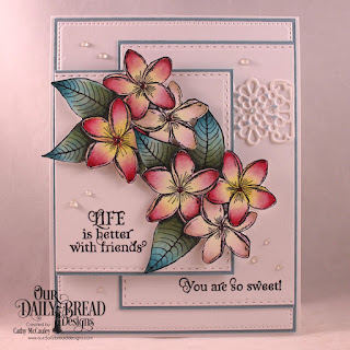 Our Daily Bread Designs Stamp Set: Sweet As Perfume, Custom Dies: Pierced Rectangles, Double Stitched Rectangles, Flower Lattice