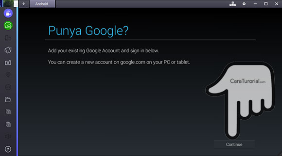 Punya Google di BlueStacks?