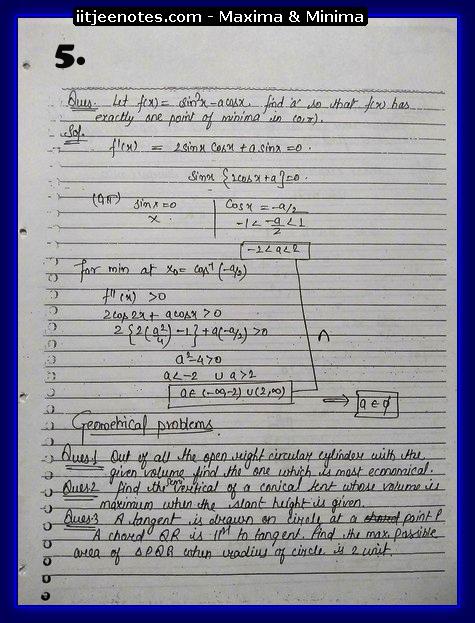 maxima and minima notes3