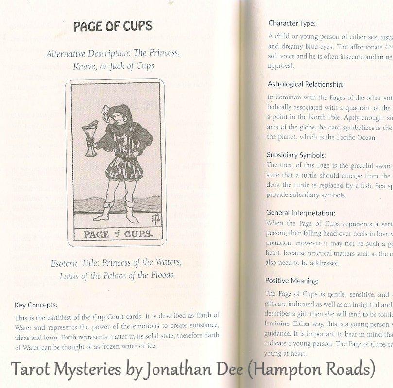 Tarot Notes Review Tarot Mysteries By Jonathan Dee