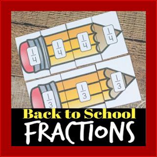 back to school fractions practice