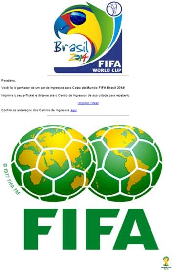 Malware attack email related to FIFA World Cup