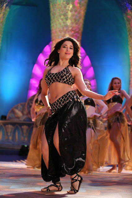 Tamanna Bhatia in Spicy Black Chania Choli and leg Split ghagra for Special Item Song from movie Jaguar