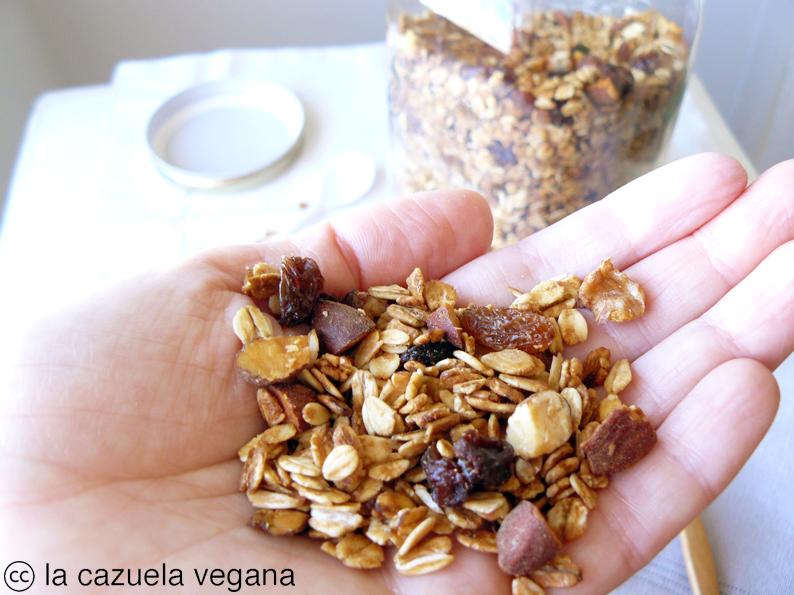 Granola vegana casera