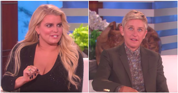 Ellen Was Forced To Take A Deep Breath After This Interview With Jessica Simpson