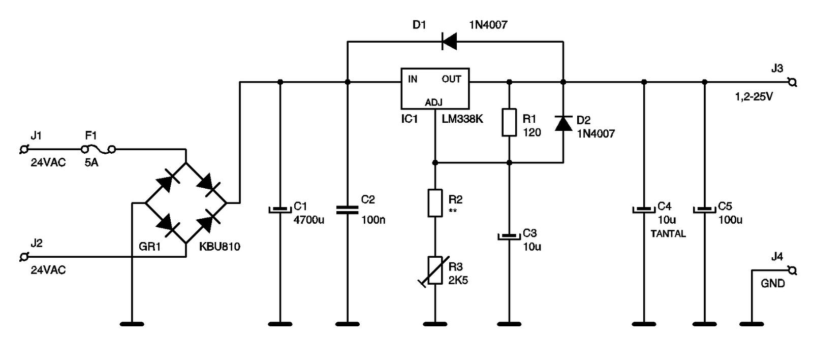 Eletrônica Campo Elétrico*: Fonte Ajustável 1,25V a 25V