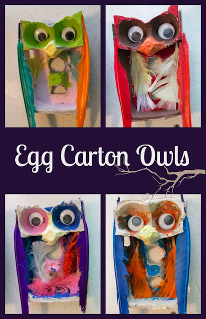 How to Turn Egg Cartons into Fun Fall Owls