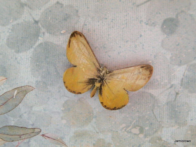 piękne motyle scrapki wykonane z drewna ręcznie malowane