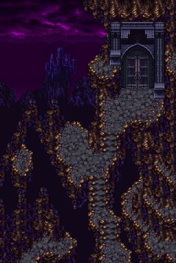 Seiken Densetsu 3 - Banner vertical Dark Castle