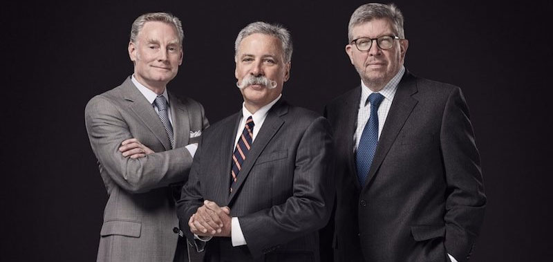 Sean Bratches, Chase Carey y Ross Brawn lideran la gestión de Liberty Media en la F1