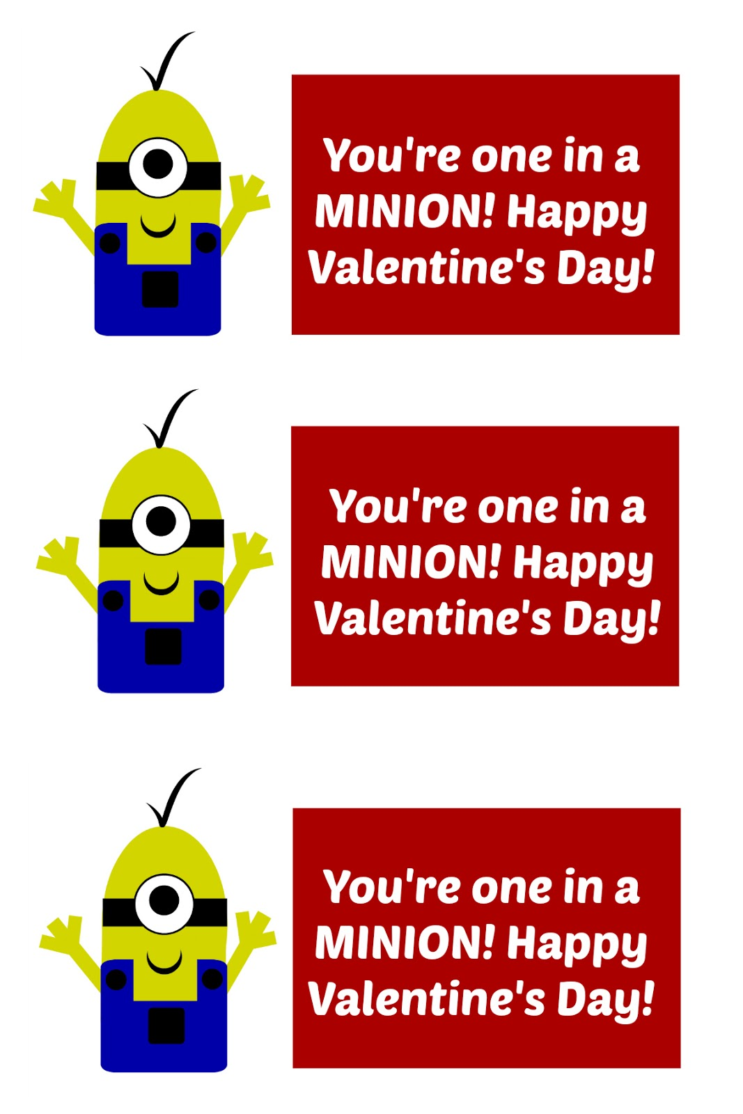 east coast mommy minion valentines with free printable tags