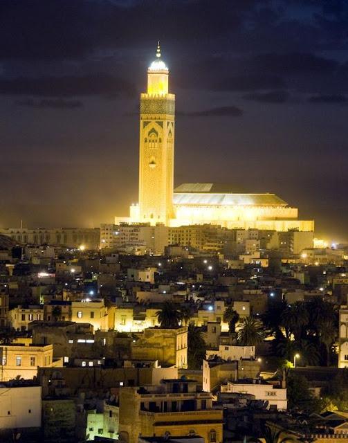 Casablanca w nocy