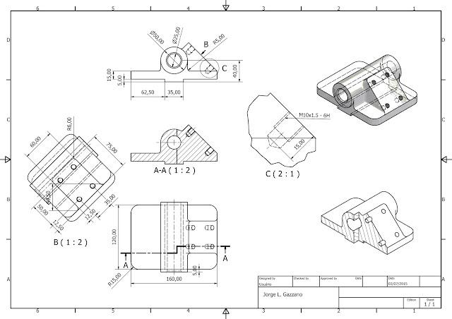 Projetos AutoCAD e Inventor: Exercícios do Curso de Cad 2D
