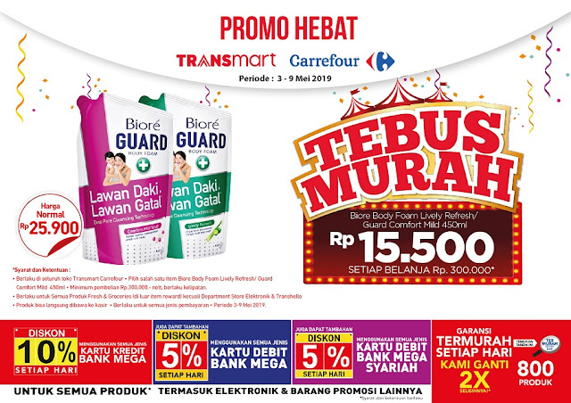 #Transmart - #Promo Tebus Murah Biore Body Lively Refresh/Guard Comfort Mild 450ml
