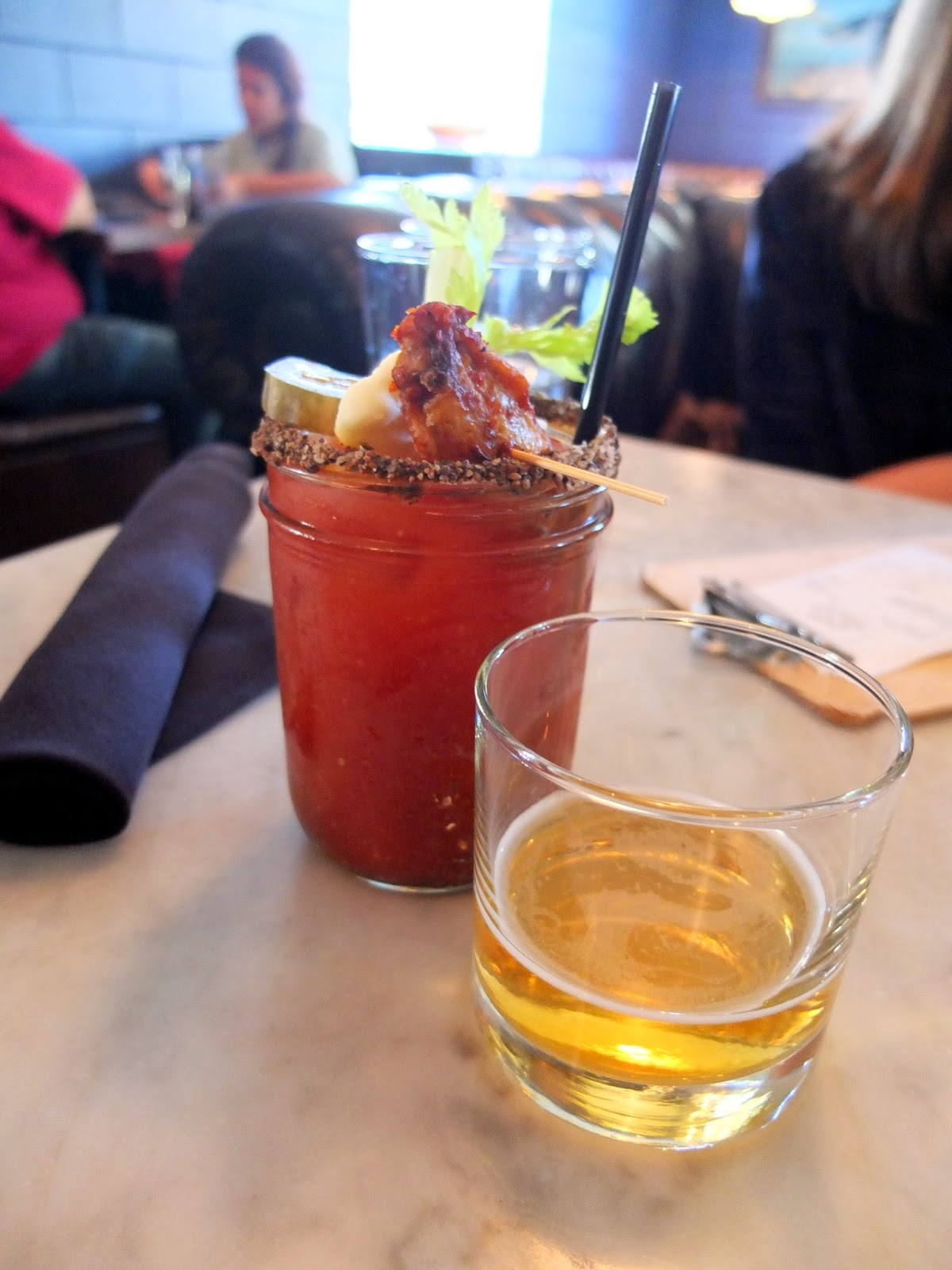 Down House Brunch, Down House Bloody Mary, Down House Houston Heights