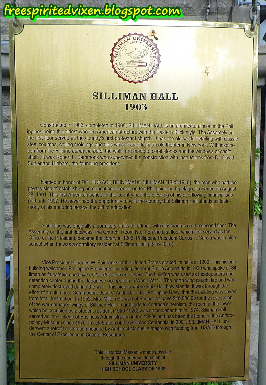 Silliman Hall, Silliman University, Dumaguete