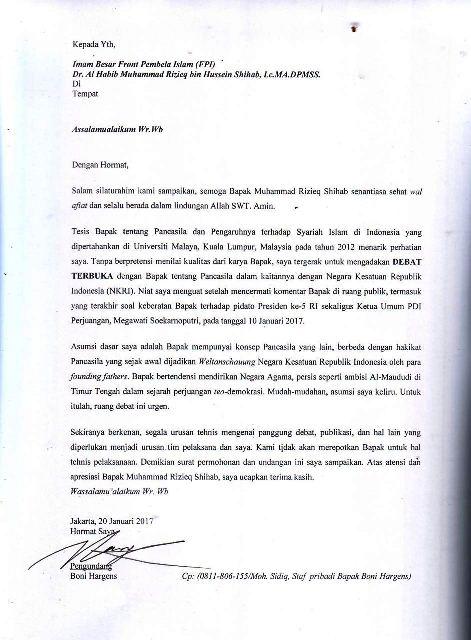 Panas..!! Boni Hargens Kirim Surat Terbuka, Ajak Habib Rizieq Debat Terbuka Soal Pancasila