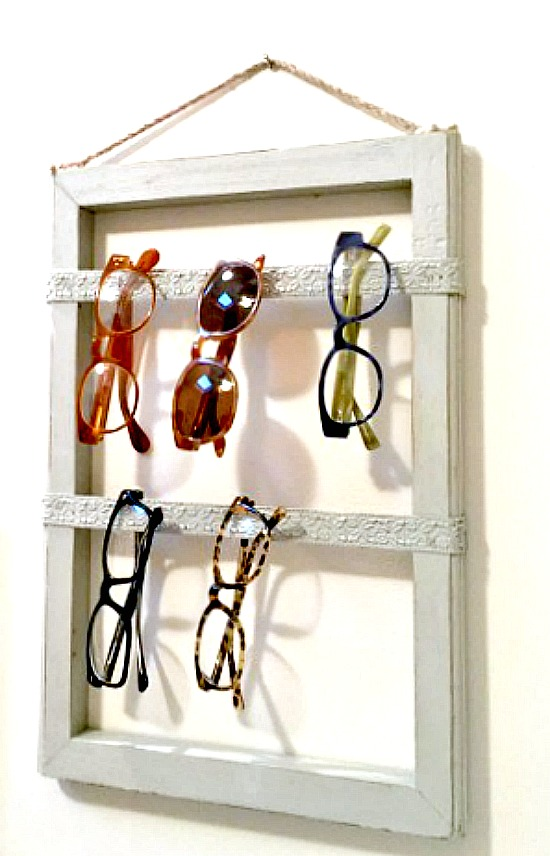 DIY  Repurposed Eyeglass Storage. Homeroad.net