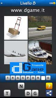 PACCHETTO 6 Soluzioni Trova la Parola - Foto Quiz con Immagini e Parole livello 8