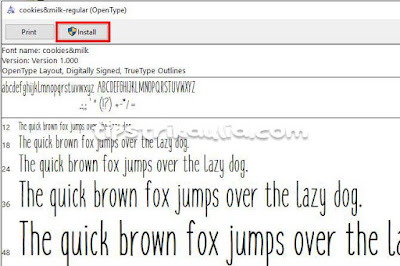 Cara Install Font di PC Windows