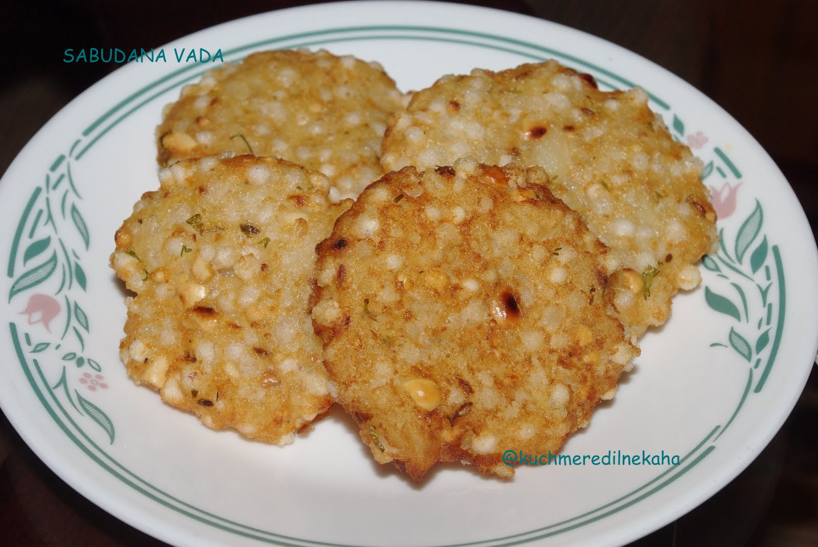 Sabudana Cake Recipe In Marathi: Meri Rasoi: Sabudana Vada