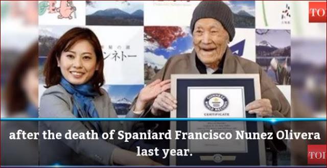 Setelah Menerima Guinnes World Records, Manusia Tertua Didunia Di Jepang Menutup Usianya Ke 113 Tahun