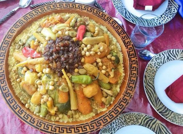 Couscous Marocain Aux Sept Légumes