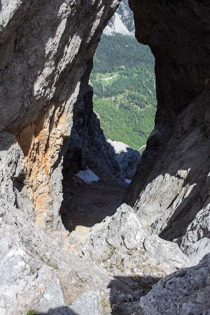 Felsenfenster am Prisojnik