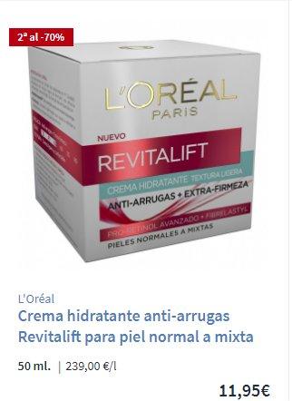 Crema-hidratante antiarrugas Carrefour