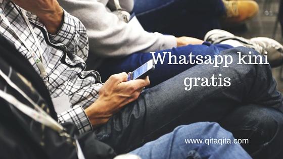 Whatsapp kini gratis