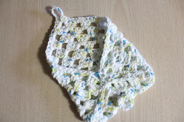 crochet, granny square, cotton, soap holder