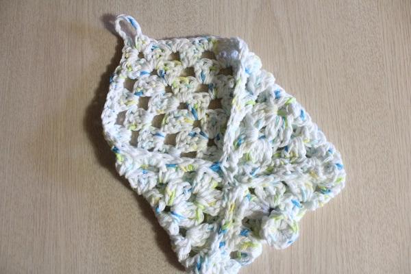 crochet, granny square, cotton, soap holder