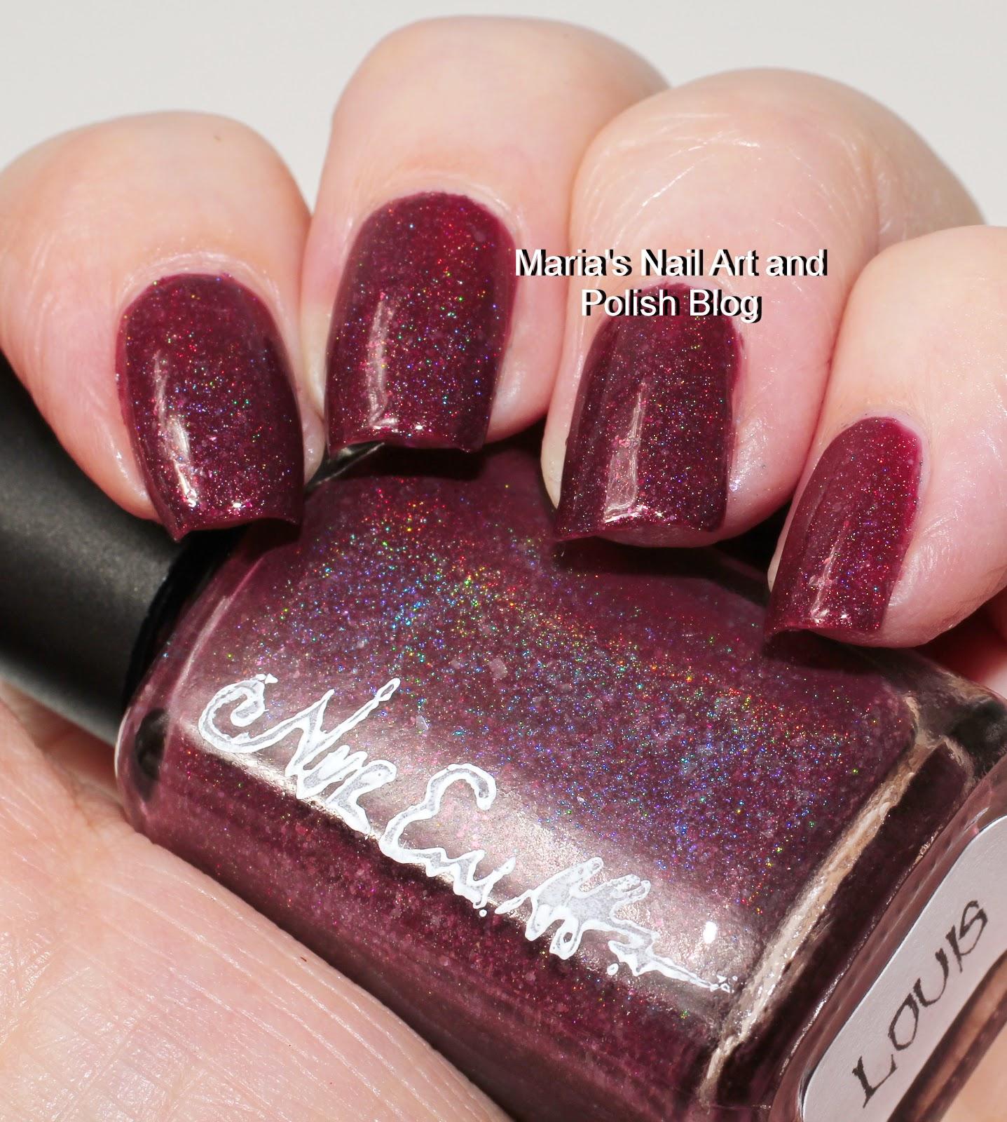 Marias Nail Art And Polish Blog Flushed With Stripes And: Marias Nail Art And Polish Blog: Nvr Enuff Polish Claudia