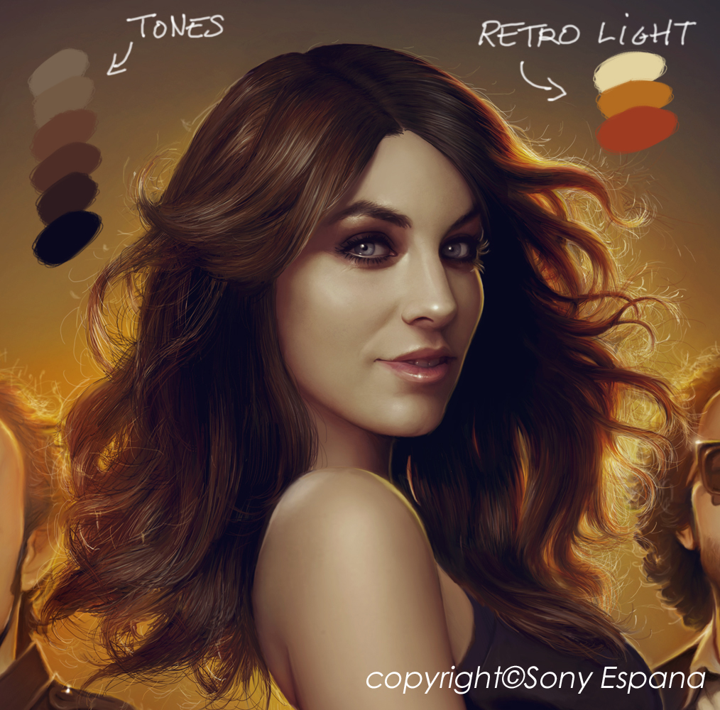 Light Yellow Paint Color Palette: Muddy Colors: How To Digitally Paint Hair