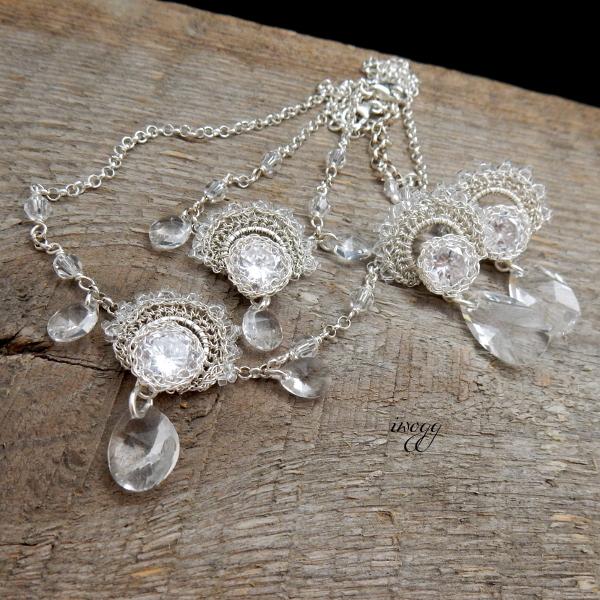 Oryginalny komplet biżuterii ślubnej