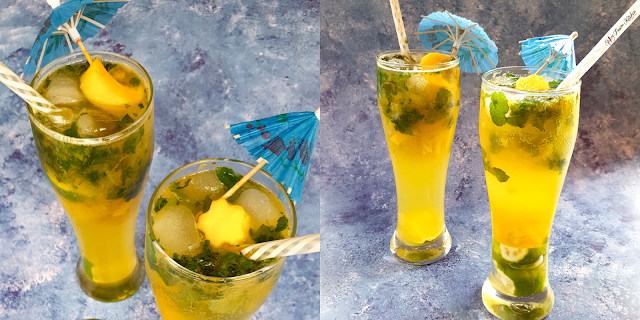Mango Mocktail Recipe, mango mocktail, mango, fruit, mocktail, mocktail recipe, spicyfusionkitchen, non-alcoholic drinks, summer time, food, food blog, food blogger, drink photography, food photography, drink recipe, summer time, refreshing