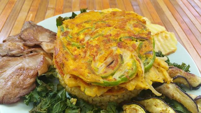 Tortilla francesa vegana de harina de garbanzos
