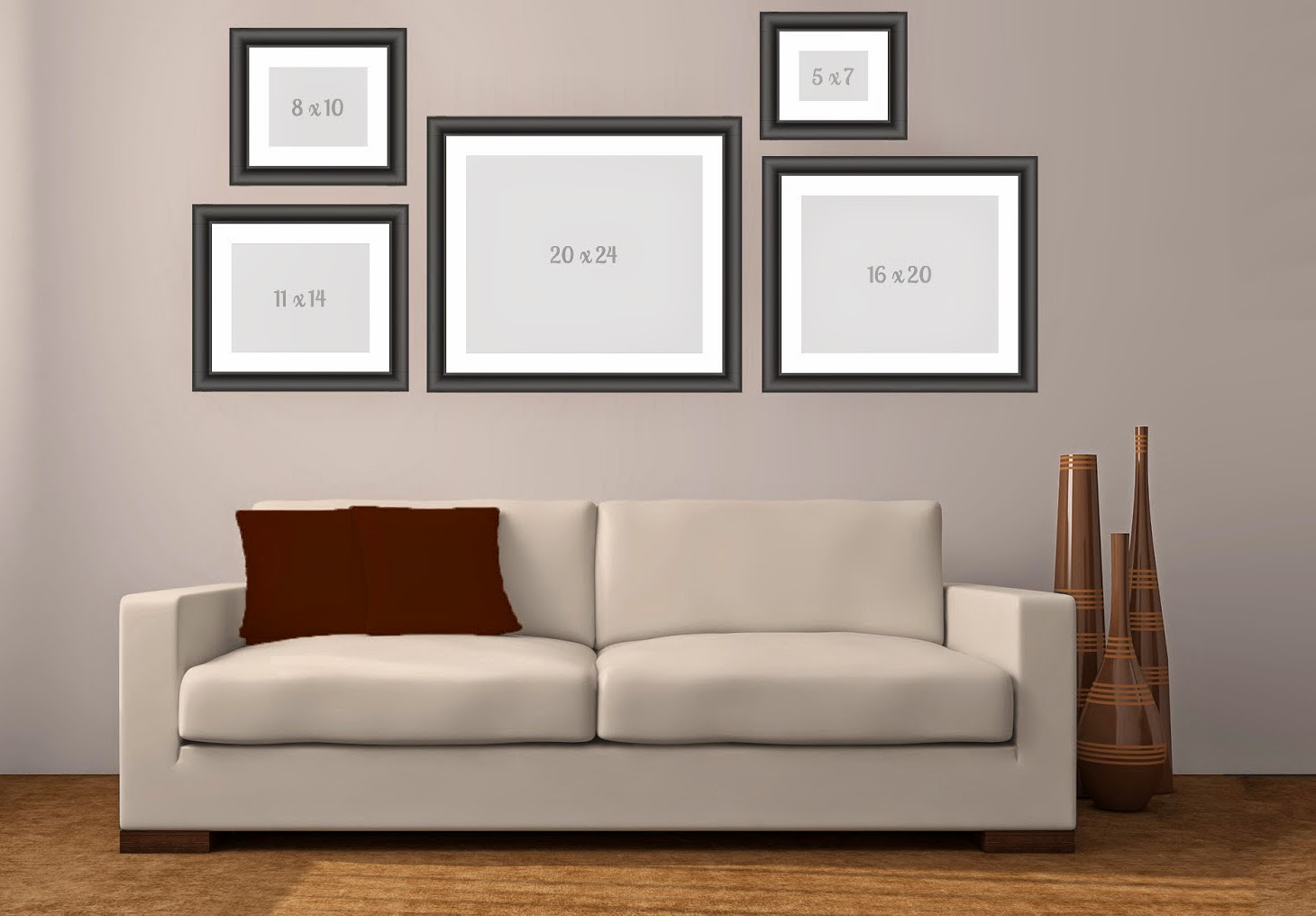 wall art making a canvas or print grouping. Black Bedroom Furniture Sets. Home Design Ideas
