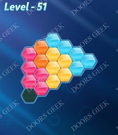 Block! Hexa Puzzle [Rainbow A] Level 51 Solution, Cheats, Walkthrough for android, iphone, ipad, ipod