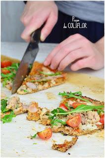 Pizza sin harina de coliflor: pizza digestiva, fácil y deliciosa